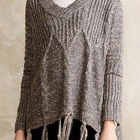 NWT Anthropologie Cabled Poncho Sweater Sz XS/S- By Love Token