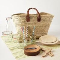Hillside Picnic Basket by Anthropologie Neutral One Size House & Home