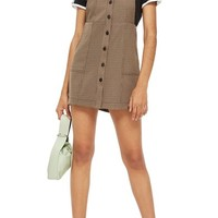 Topshop Heritage Check Pinafore Dress | Nordstrom