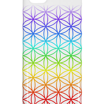 Chakra Flower of Life on White iphone 5C Plastic Case All Over Print