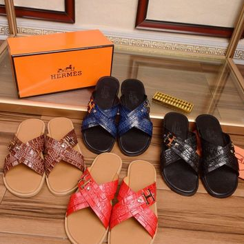 Hermes Sandals - slippers - flip flops for men Size: 384