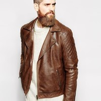 ASOS Faux Leather Biker Jacket