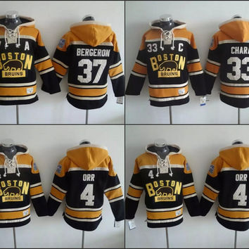 Men's Old Time Hockey 2016 Winter Classic Boston Bruins 4 Bobby Orr 33 Zdeno Chara 37 Patrice Bergeron hoodies