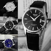 2015 New Fashion -Leather Mens Army Military Wrist Watch Sport Data Analog Quartz Watches-N3 = 1956893060