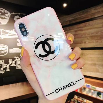 New Popular Women Sweet Pink White Glass Mobile Phone Cover Case For iphone 6 6s 6plus 6s-plus 7 7plus 8 8plus X