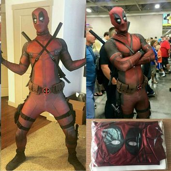 Cosplay Men Adult Superhero Cosplay Deadpool Costume Halloween Costume Onesuit Deadpool Cosplay Costume for Kids