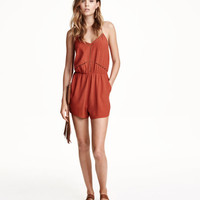 Jumpsuit with Embroidered Trim - from H&M