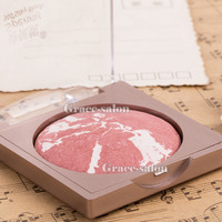 Makeup Baked Blush BlusherSilk Palette Cosmetic Contour Face Neutral Orange