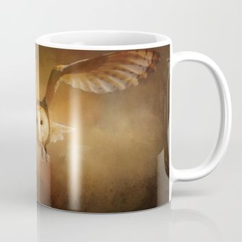 Night Raptor - Barn Owl Mug by Theresa Campbell D'August Art