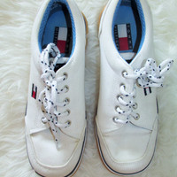 Wms Vintage 1990s Tommy Hilfiger Sneakers Sz 6.5