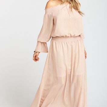 Wanda Maxi Dress ~ Sparkle and Shine Mauve