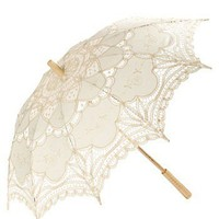 RawSpace :: Women's Gifts :: Gifts :: A Parasol - cream crochet and lace