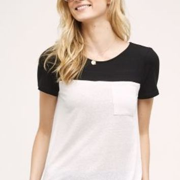 Eri + Ali Blocked Tee in Black & White Size: