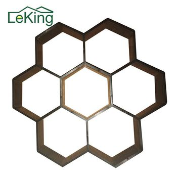 1PCs Hexagon Fancy Water Permeable Brick Concrete Paving Molds For  DIY Garden Walk Park Maker Courtyard Ornaments Outdoor Decor