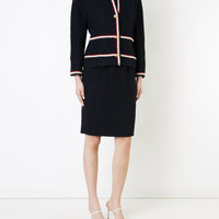 Chanel Vintage Contrast Trim Skirt Suit - Farfetch