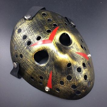 Jason Voorhees Friday the 13th Horror Movie Hockey Mask Halloween Scary Mask Costume Prop