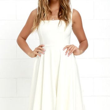 Course of Action Ivory High-Low Dress