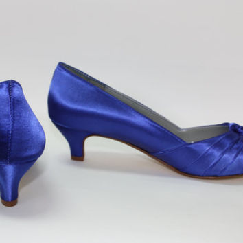 Royal Blue Wedding Shoes - Choose From Over 100 Colors - Custom Shoe - Dyeable Wedding Shoes - Blue Wedding Shoe - Wide Shoe Sizes -Parisxox