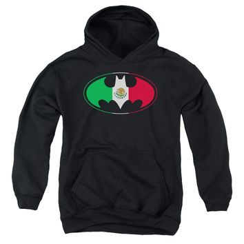Batman - Mexican Flag Shield Youth Pull Over Hoodie