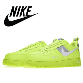 Limited Edition Nike Air Force 1 LV8 Utility Volt Fluorescent Green Shoes 36-45