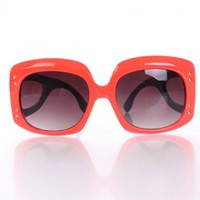 Coral Royal Blue Large Frame Sunglasses