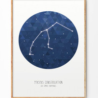 Perseus Constellation Poster
