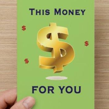 Gag Prank Trick Holiday Birthday Greeting Wedding Anniversary Christmas Baby Housewarming Card full of MONEY! 100 Dollar Bills!