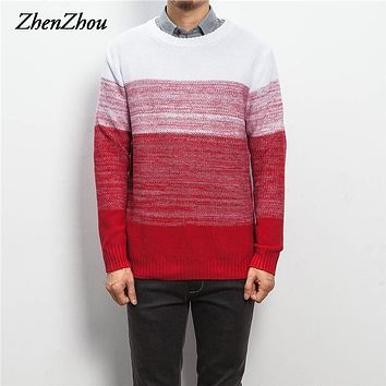 ZhenZhou M-5XL Autumn Winter Pullover Men Knit Christmas Sweater Men Brand 2016 Stylish Jumpers Mens Sweaters With Deer