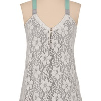Lace Front Colored Strap Swing Tank