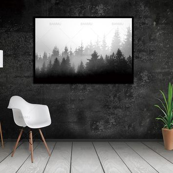 Canvas Painting Wall picture Art Prints stone and  trees on painting Decoration For Living Room wall  picture Cuadros no frame