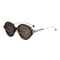 Dior Umbrage Round Printed Sunglasses, Pink Foliage