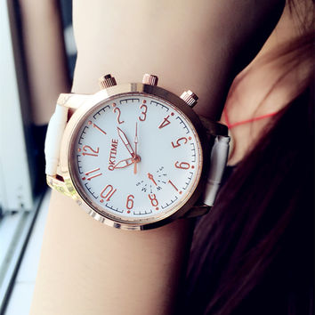 Fashion Unisex Leather Watch +Gift Box