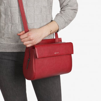 Matt and Nat Blinkin Crossbody/Shoulder Bag in Vegan Leather Bordeaux Red