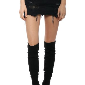 Brooklyn Karma Distressed Unbalanced Skirt