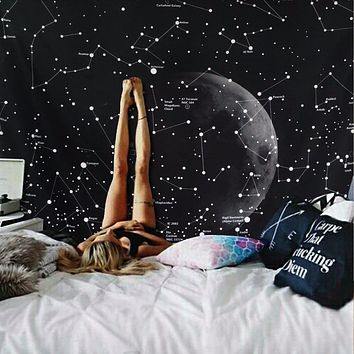 130X150 Galaxy Tapestries Plant Printed Wall Hanging Wall Decoration Tapestry Beach Mat