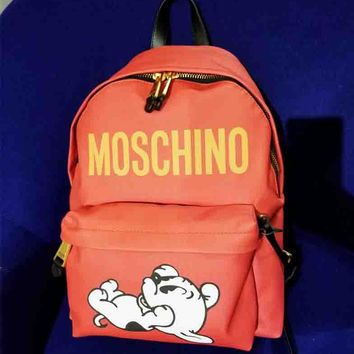 Moschino New fashion letter dog print backpack bag Red