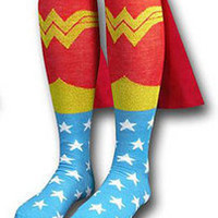 Wonder Woman Caped Knee High Socks (2012) - New - Apparel & Accessories