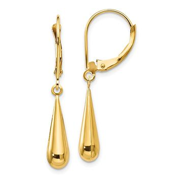 14K Yellow Gold Madi K Tear Drop Dangle Earrings