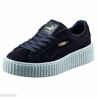 PUMA RIHANNA PEACOAT COOL BLUE SUEDE CREEPERS FENTY ALL UK SIZES TRAINERS NEW