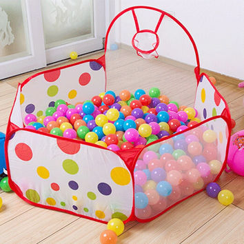 New Arrival 90cm 120cm 150cm Funny Basketball Childrens Kids Baby Toy Tent Ball Pit Playhouse Pop Up Garden Pool