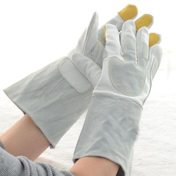 New 35cm long sheepskin Best selling working safety gloves 2017 TIG MIG welding glove sports gloves high quality leather glove