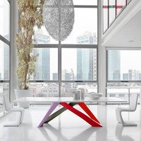 Bonaldo Big Table with Multi-Color Legs