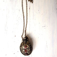 Vintage Perfume Bottle Necklace ,India necklace
