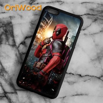 OriWood Deadpool Marvel DC Comic Movie Superhero Case cover For iPhone 6 6S 7 8 Plus X 5 5S SE Samsung galaxy S6 S7 edge S8 Plus