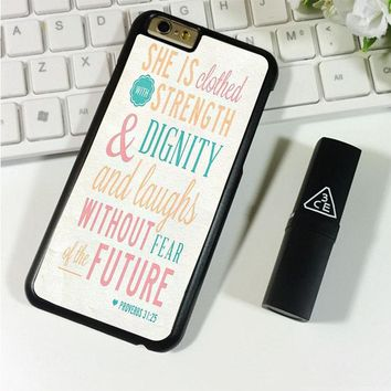 Bible Verse (she is clothed colorful) iPhone 6 Plus | 6S Plus Case Planetscase.com