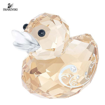 Swarovski Color Crystal Duck Figurine HAPPY DUCK MISS ELEGANT #5080337