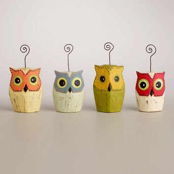 Standing Owl Cardholders, Set of 4 - World Market