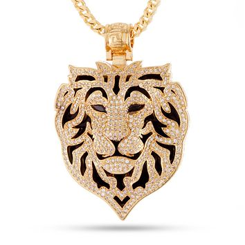 The 14K Gold Phantom Lion Necklace