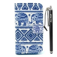 Iphone 4/4S Case,MaxMall Aztec Tribal Elephant Pattern PU Leather Wallet Case Credit Card/Money Holders with Magnet Flip cover Stand Case for Apple iphone 4/4S/4G Case.