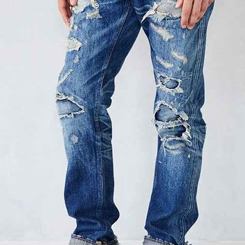 Big John Slim-Fit Tapered Destroyed Jean- Vintage Denim Medium